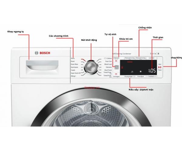 Máy sấy quần áo Bosch WTW87561SG chính hãng giá rẻ nhất thị trường